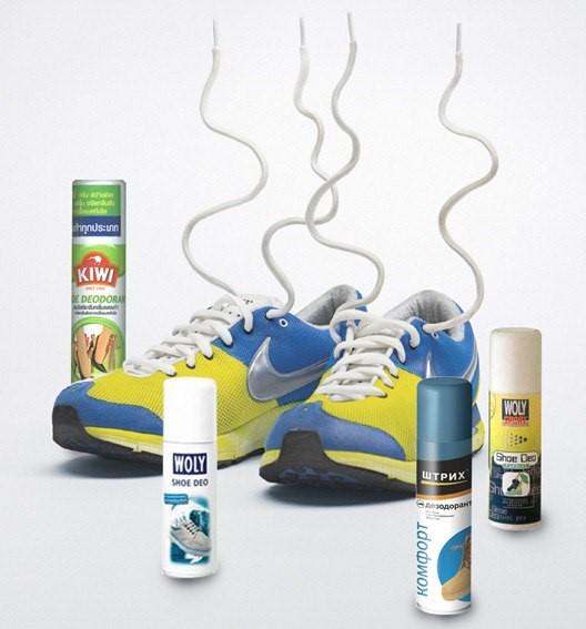 использование обувного дезодоранта